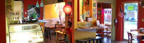 Inside the Green Room Cafe Cocoa Beach