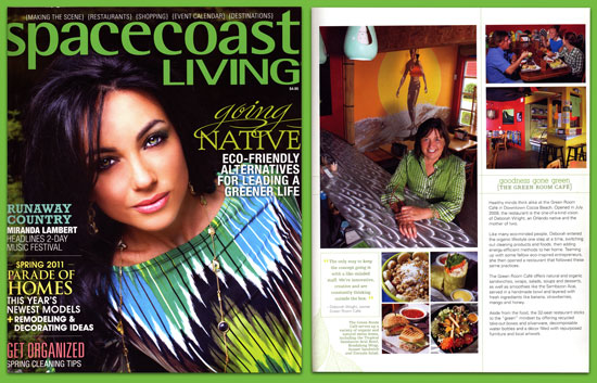 Space Coast Living Magazine Green Room Cafe Cocoa Beach